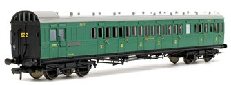 SE&CR 60ft Birdcage Brake Third Lavatory SR Malachite Green