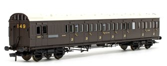 SE&CR 60ft Birdcage Brake Composite Lavatory SE&CR Wellington Brown