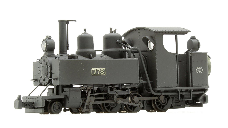 Baldwin Class 10-12-D 778 WDLR Black (Weathered) Locomotive