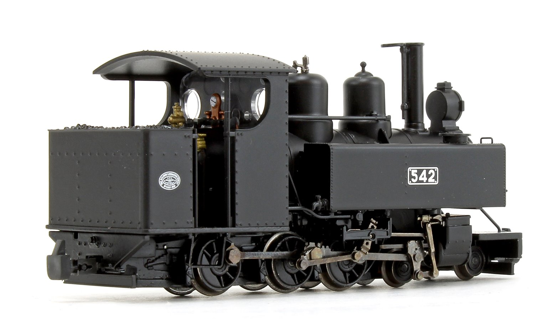 Baldwin Class 10-12-D WDLR Black livery Locomotive No.542