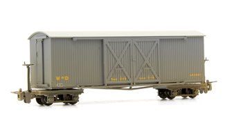 Covered Goods Wagon WW1 WD Grey Weathered