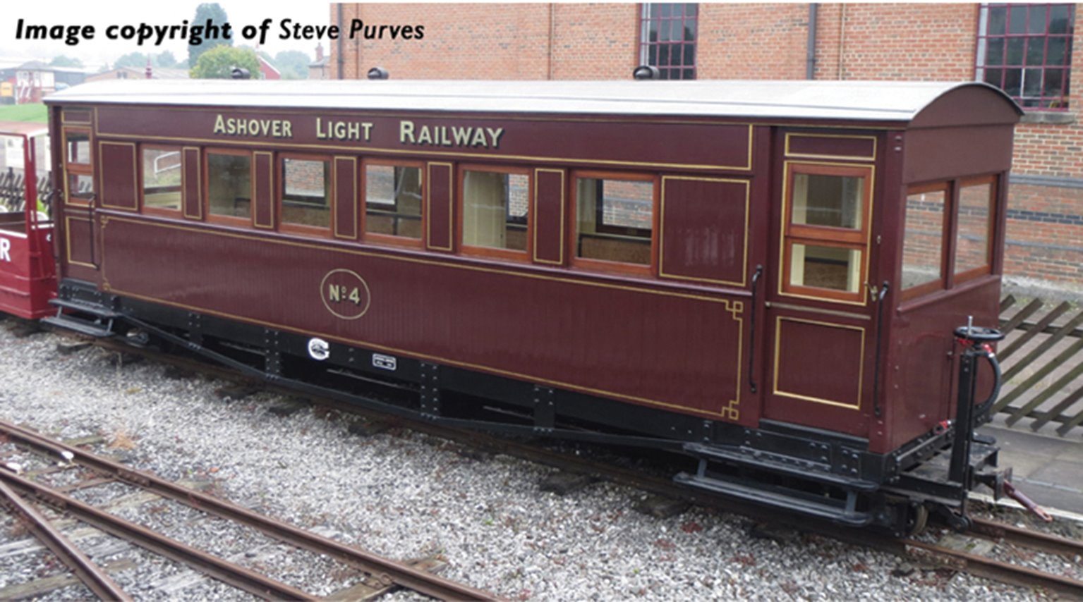 Bogie Coach in Ashover Railway Crimson livery(Price is estimated - we will notify you if price rises and offer option to cancel)