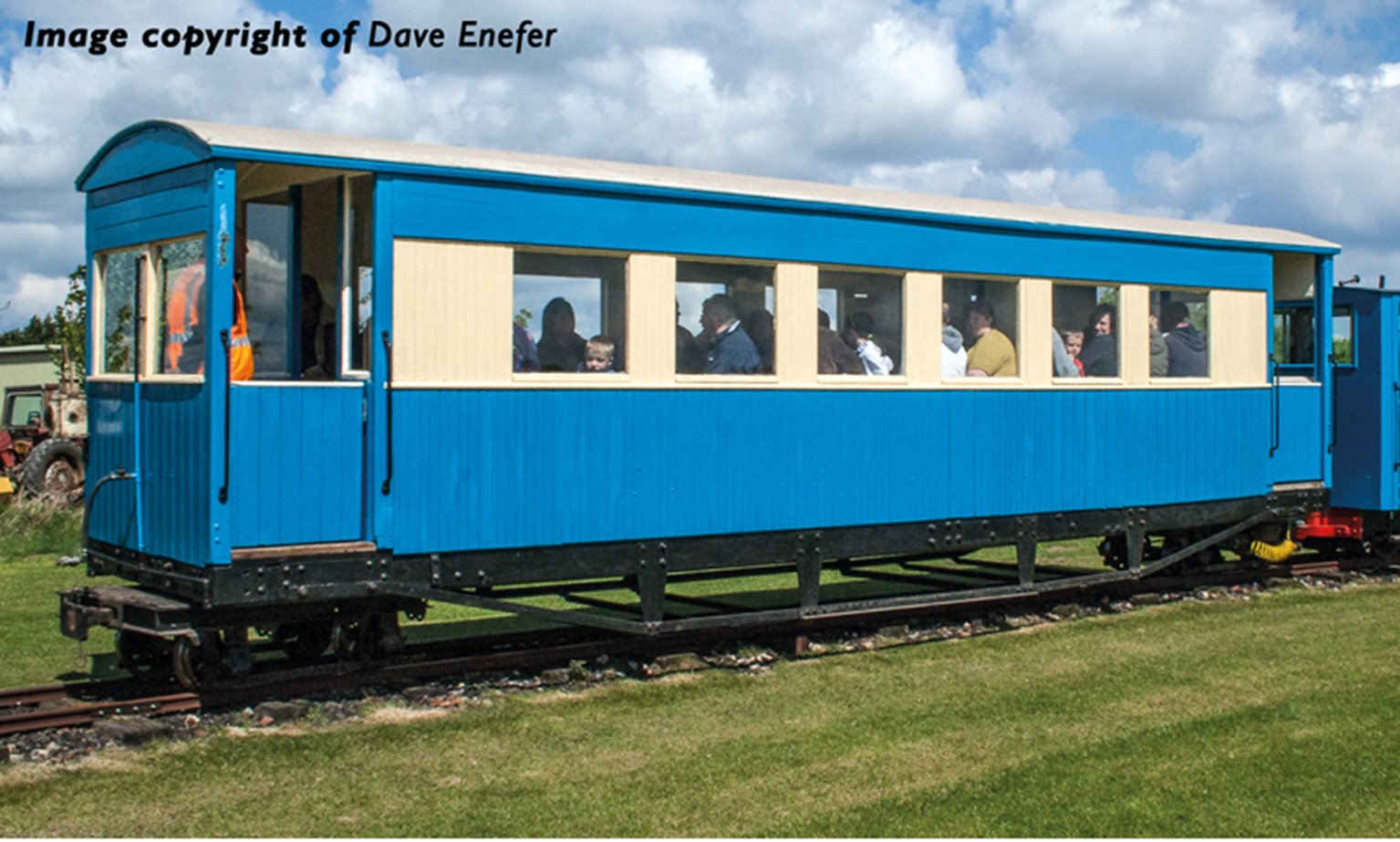 Bogie Coach in Lincolnshire Coast Light Railway Blue & Cream livery(Price is estimated - we will notify you if price rises and offer option to cancel)