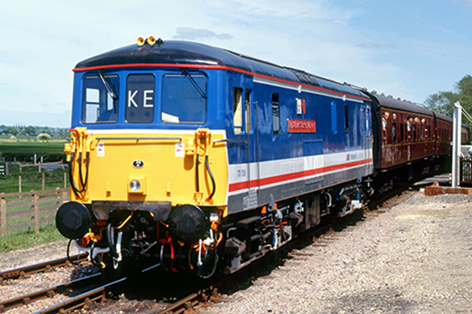 "Class 73 126 ""Kent & East Sussex Railway"" Network Southeast Diesel Locomotive"