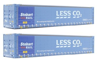 "Dapol 4F-028-005 Pack of two 45' containers ""Stobart - Less CO2"""