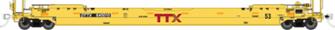 HO Gunderson 53' Husky-Stack well car - TTX - Forward Thinking: #645015