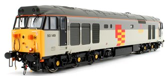 "Class 50 149 ""Defiance"" Railfreight General Sector Triple Grey Locomotive"
