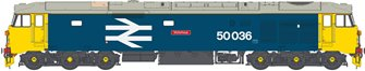 Class 50 036 'Victorious' BR Blue Large Logo Diesel Locomotive (Weathered)