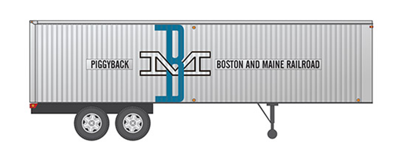 HO 35' Fruehauf Integral-Post Volume Van - Boston & Maine - Trailer #1