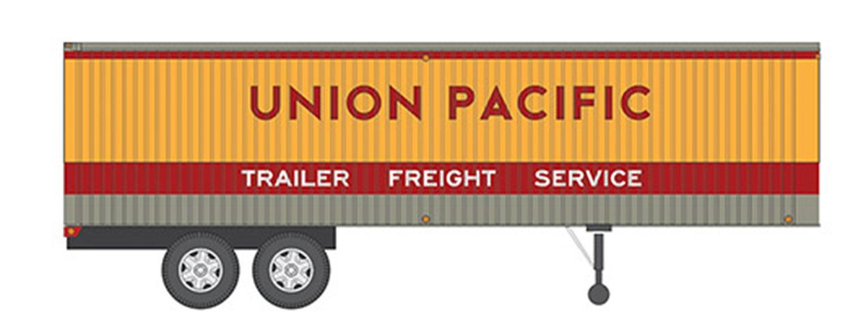 HO 35' Fruehauf Integral-Post Volume Van - Union Pacific - Trailer #3