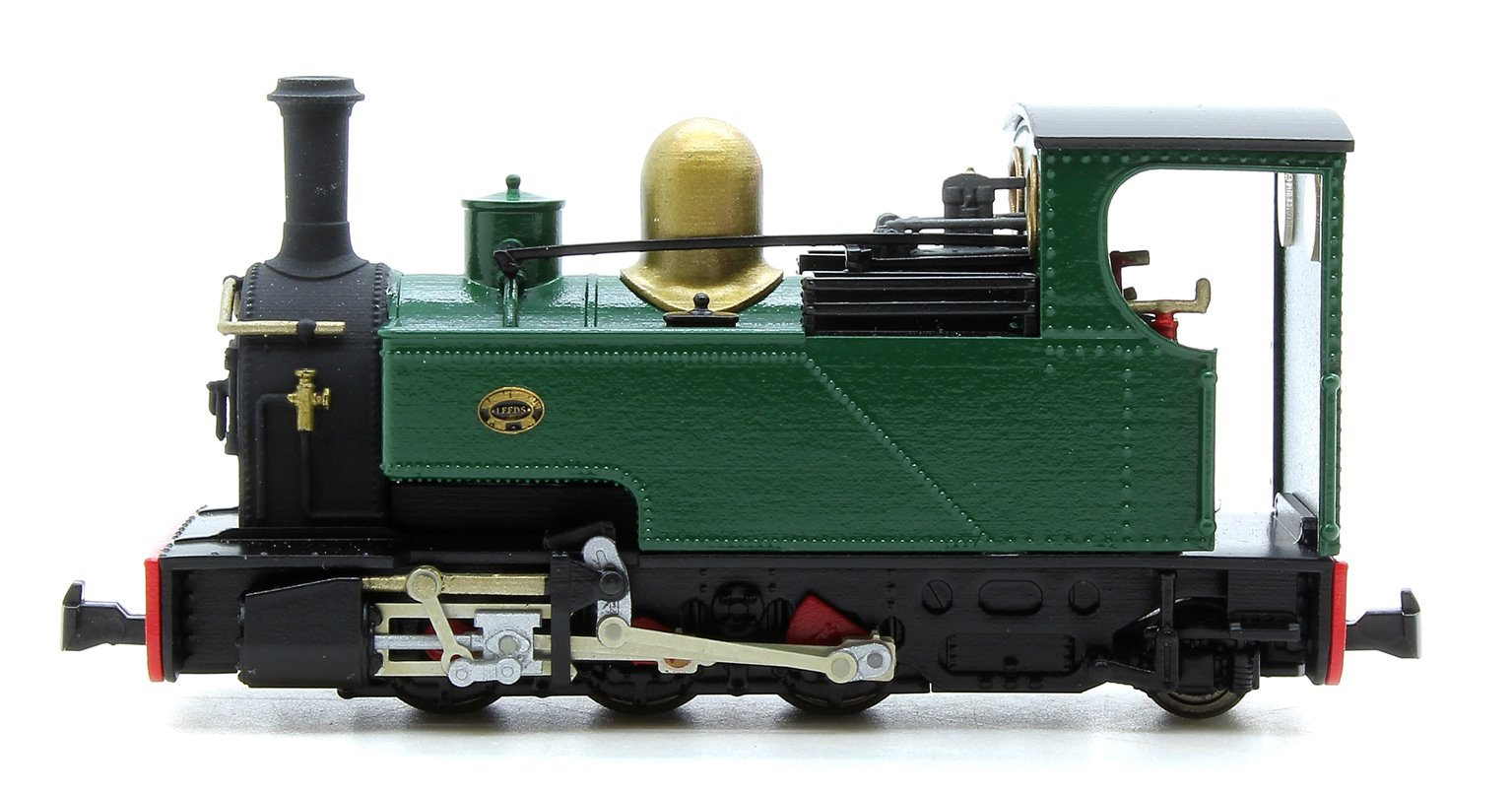 Fourdees Limited OO9 Scale 41-131 Leeds No.1 Brunswick Green Freelance 0-6-2T Locomotive