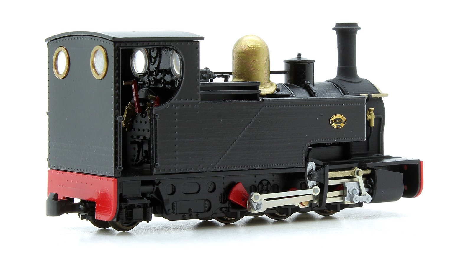 Fourdees Limited OO9 Scale 41-133 Leeds No.1 Black Freelance 0-6-2T Locomotive