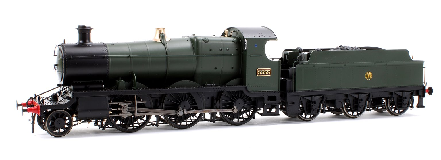 Class 43xx Mogul 2-6-0 5355 in GWR green with shirtbutton emblem