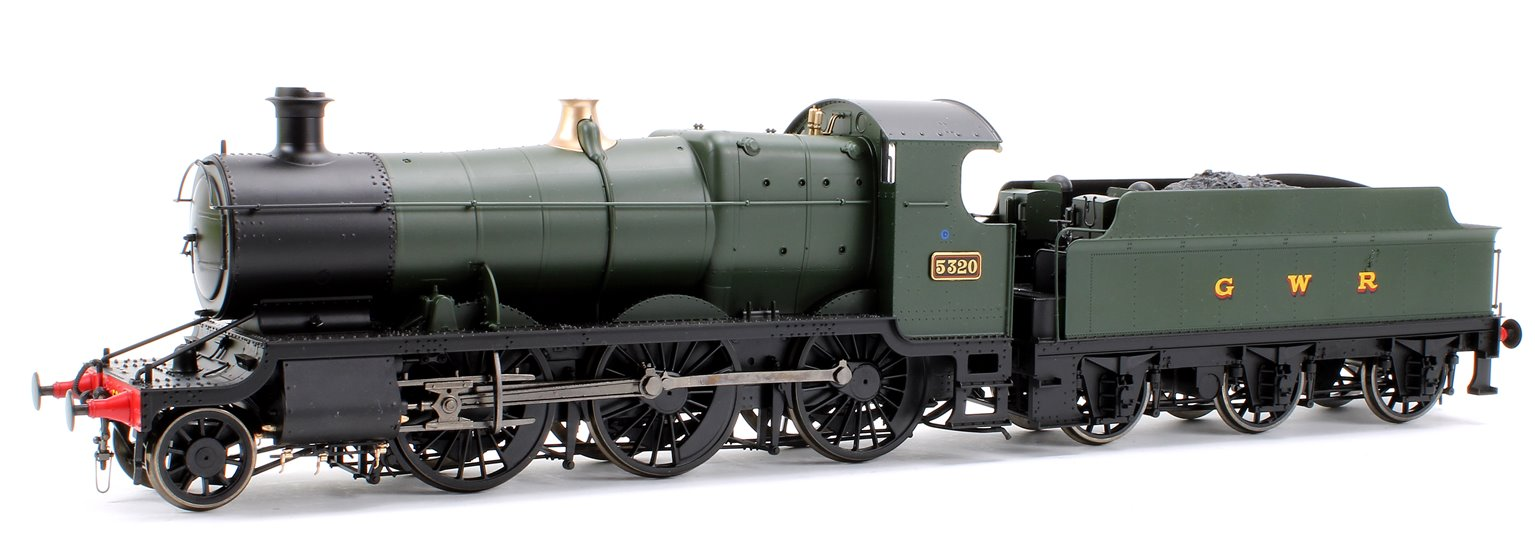 Class 43xx Mogul 2-6-0 5320 in GWR green with GWR lettering