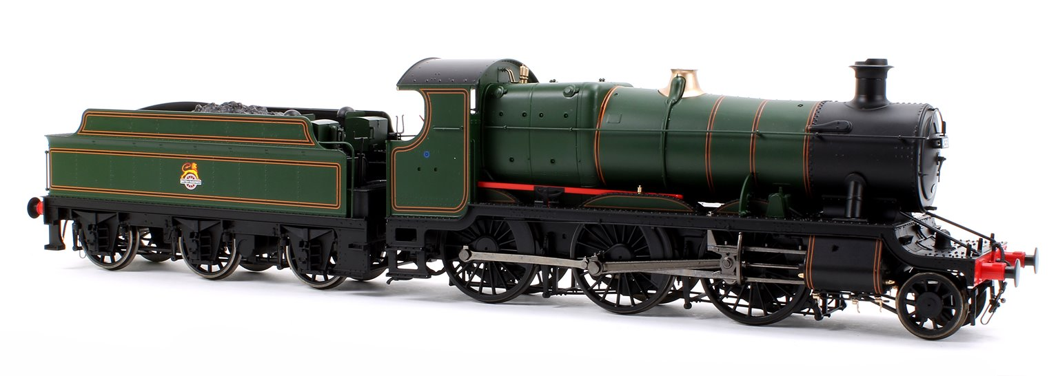 Class 43xx Mogul 2-6-0 in BR lined green with early crest