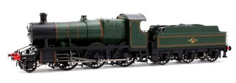 Class 43xx Mogul 2-6-0 in BR lined green with late crest