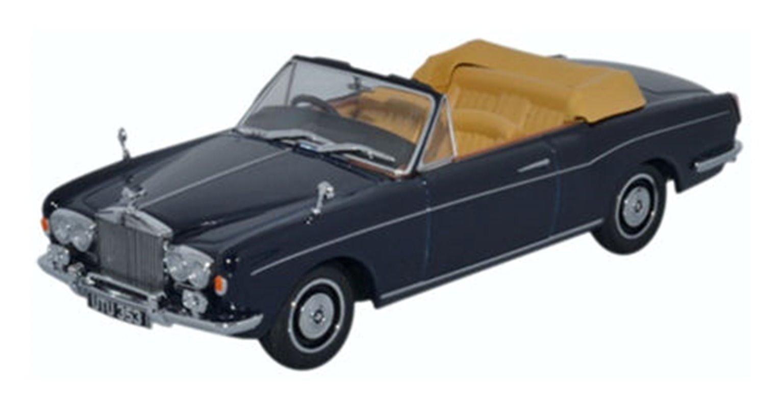 Oxford Diecast 43RRC001 Rolls Royce Corniche Convertible Indigo Blue