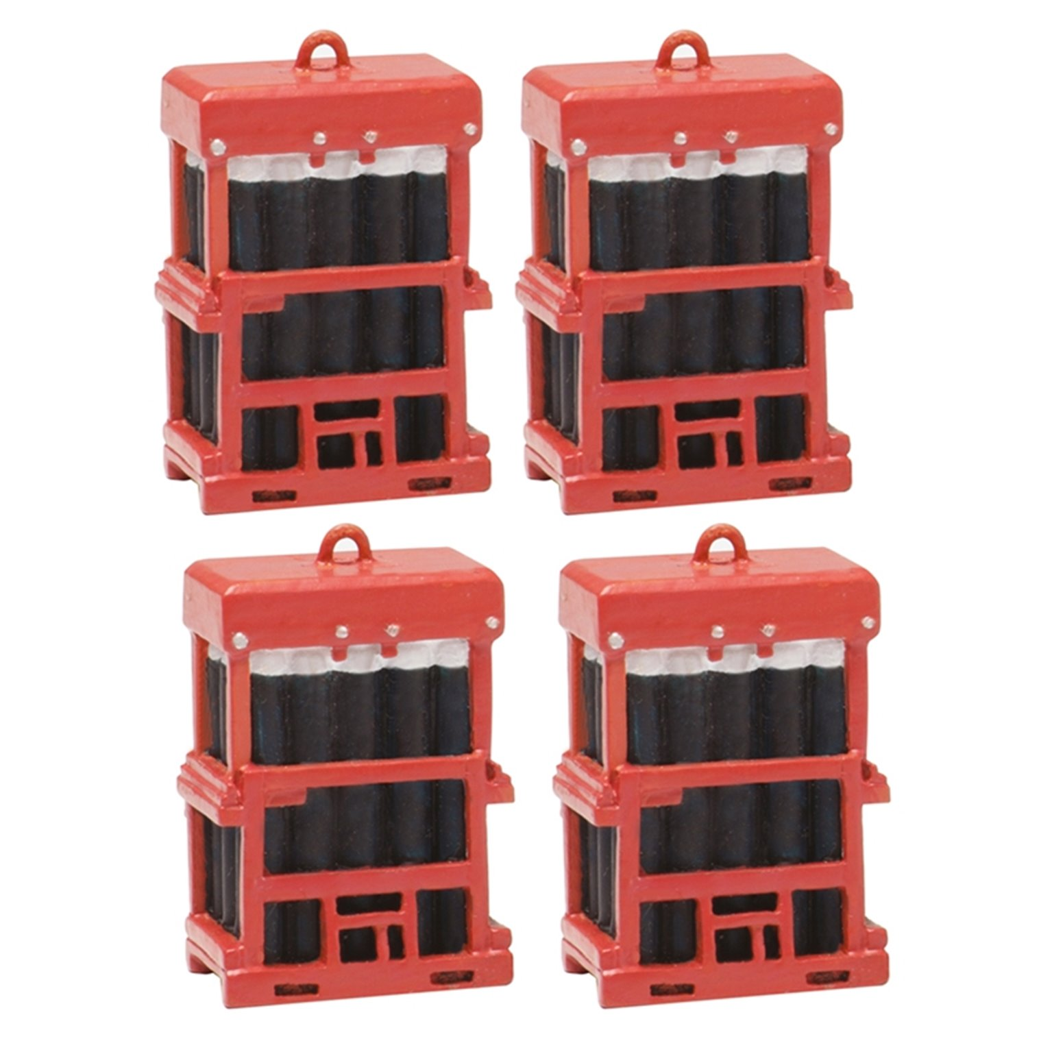Caged Gas Bottles x 4