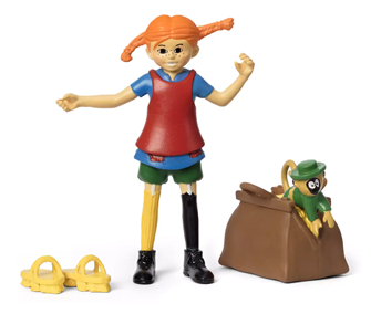 Pippi Longstocking Figure Set and Accessories
