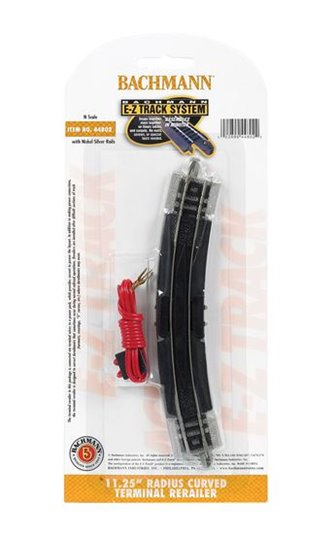Bachmann E-Z Track 44802 11¼ Radius Terminal Rerailer with Wire (1/Card)