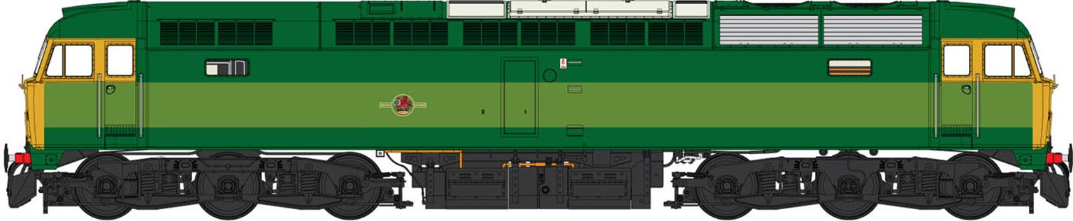 Class 47 (V2) BR Two Tone Green (Full Yellow Panel) Diesel Locomotive