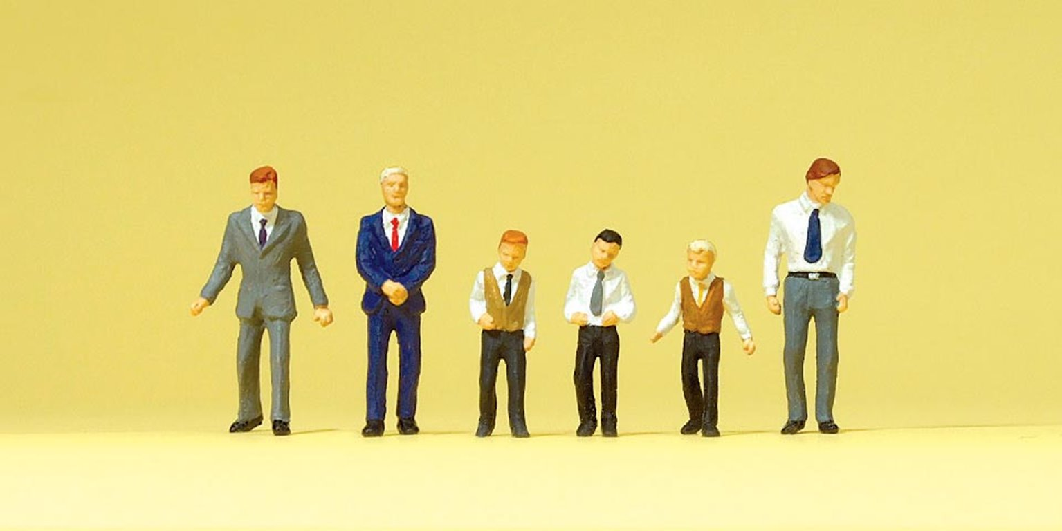 Male Churchgoers (6) Exclusive Figure Set