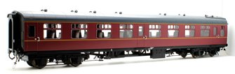 BR MK1 SO Second Open Maroon Coach