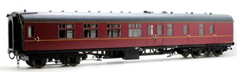 BR MK1 BSK Brake Corridor Second Maroon Coach