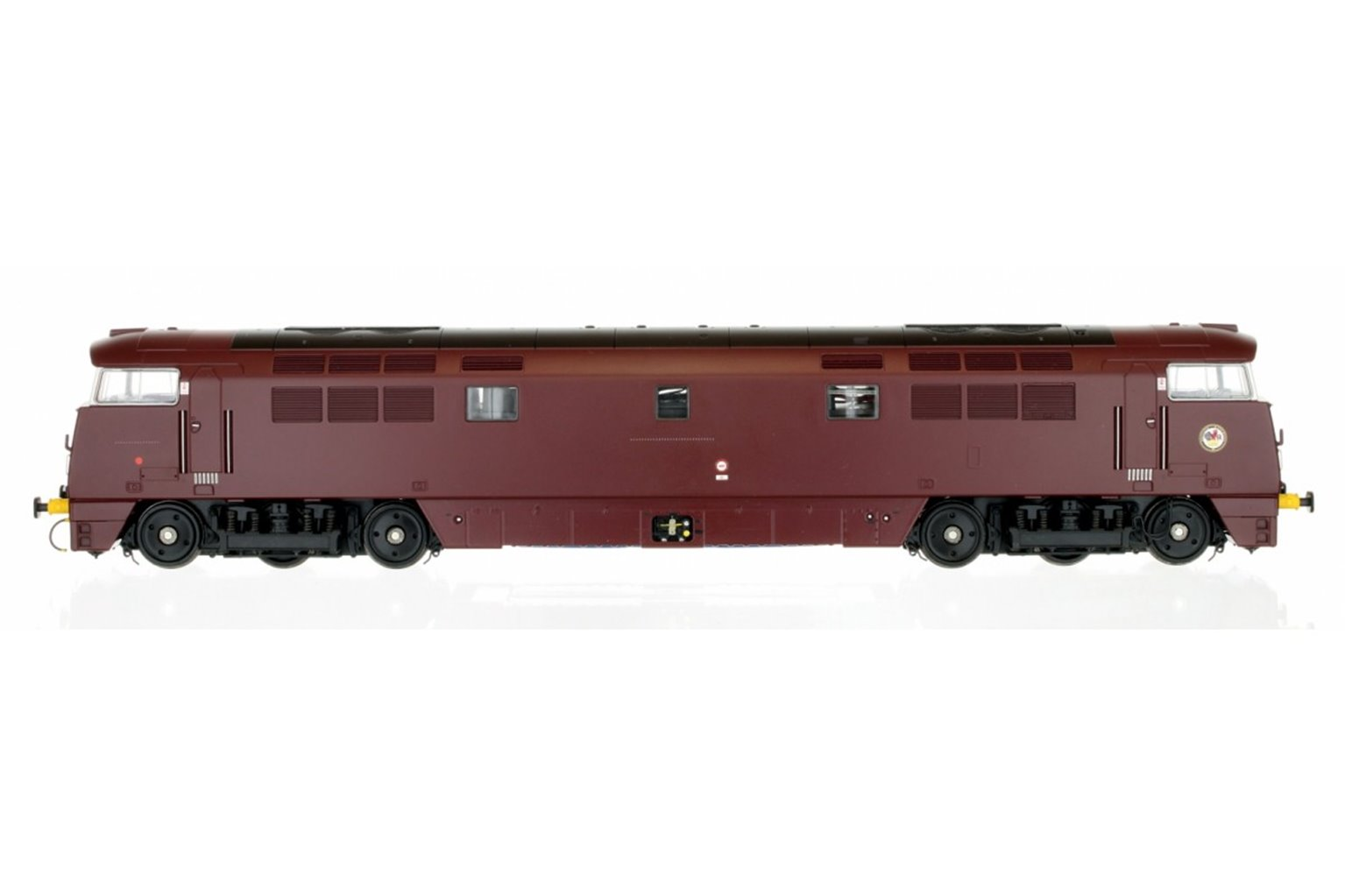 Western Harrier Class 52 BR Maroon Yellow Buffer Beam D1008 - Sound Fitted