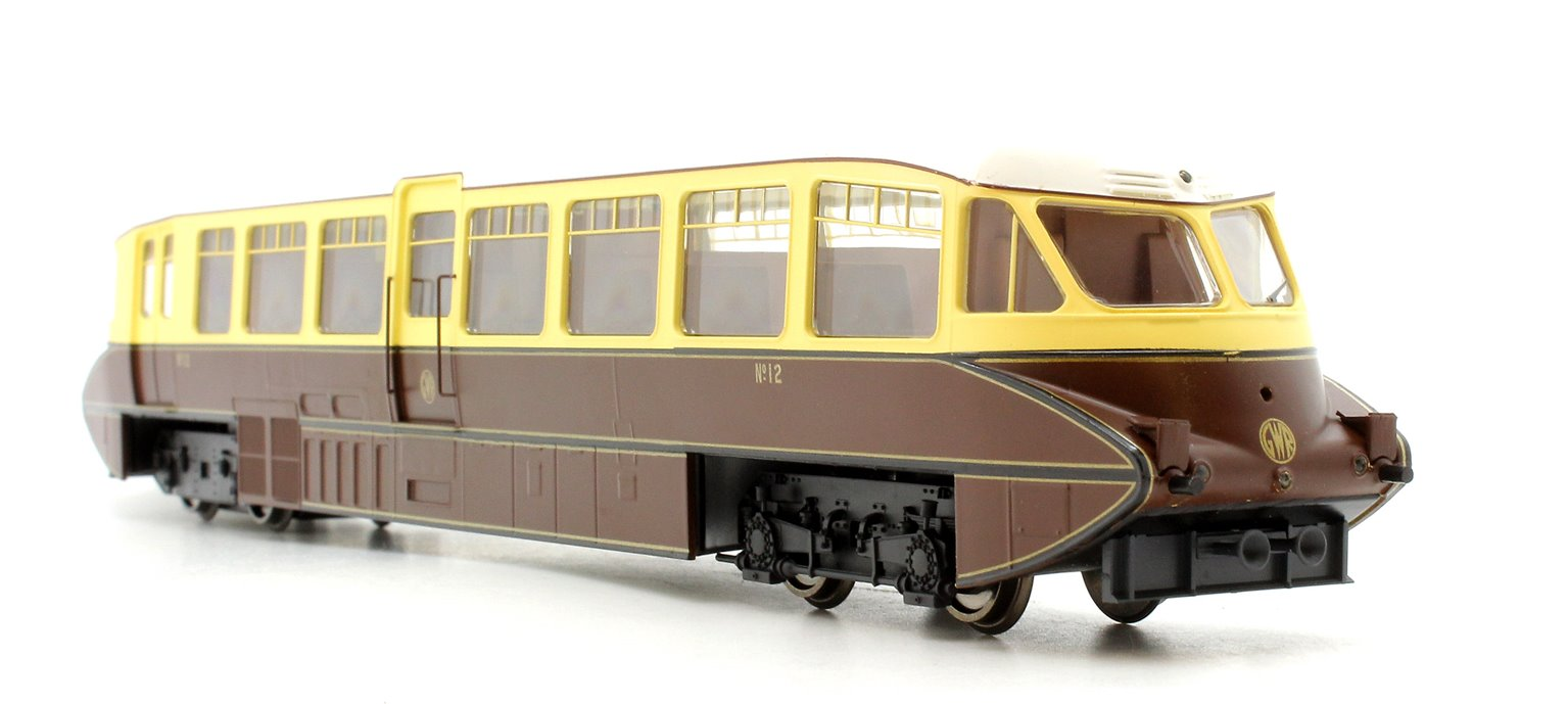 Streamlined Railcar No 12 Lined Chocolate And Cream GWR Monogram