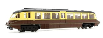 Streamlined Railcar W10 BR Lined Chocolate And Cream