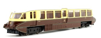 Streamlined Railcar GWR Lined Chocolate/Cream No.10