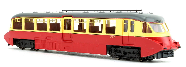 Streamlined Railcar BR Lined Carmine/Cream Locomotive No.W8