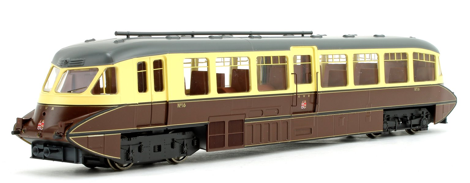 Streamlined Railcar GWR Twin Cities Chocolate/Cream Locomotive No.16
