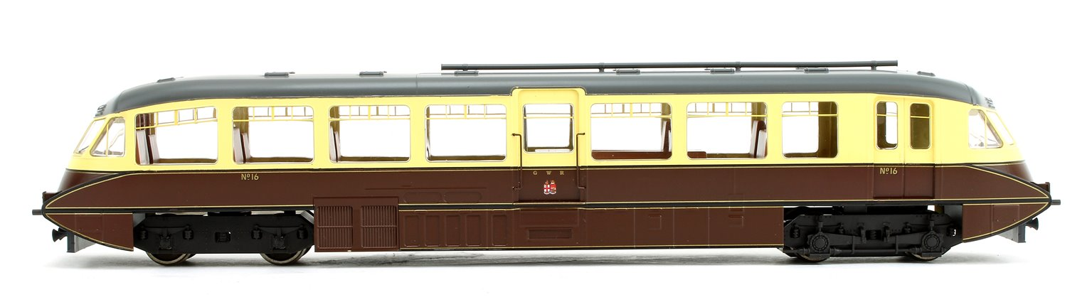 Streamlined Railcar GWR Twin Cities Chocolate/Cream No.16 - DCC Fitted