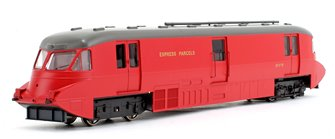 Streamlined Railcar Express Parcels BR Crimson Locomotive No.17