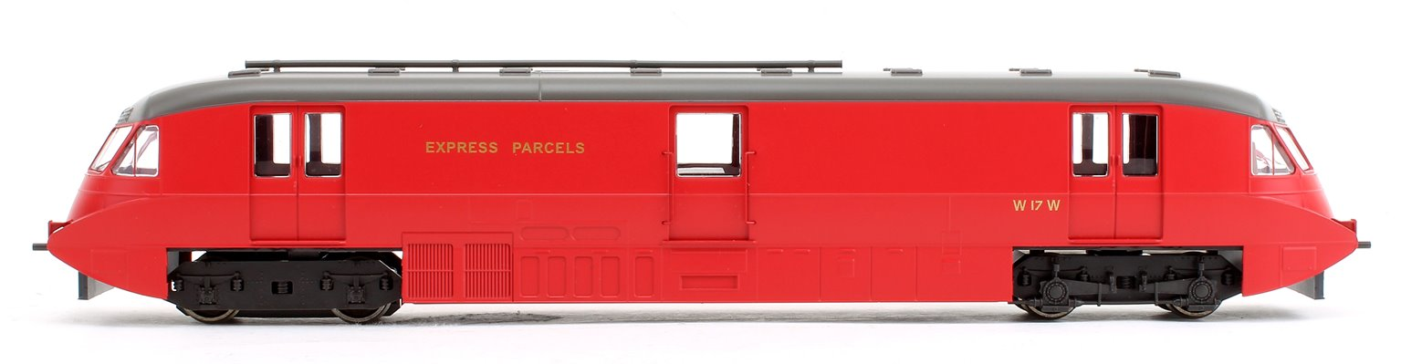 Streamlined Railcar Express Parcels BR Crimson Locomotive No.17 - DCC Fitted