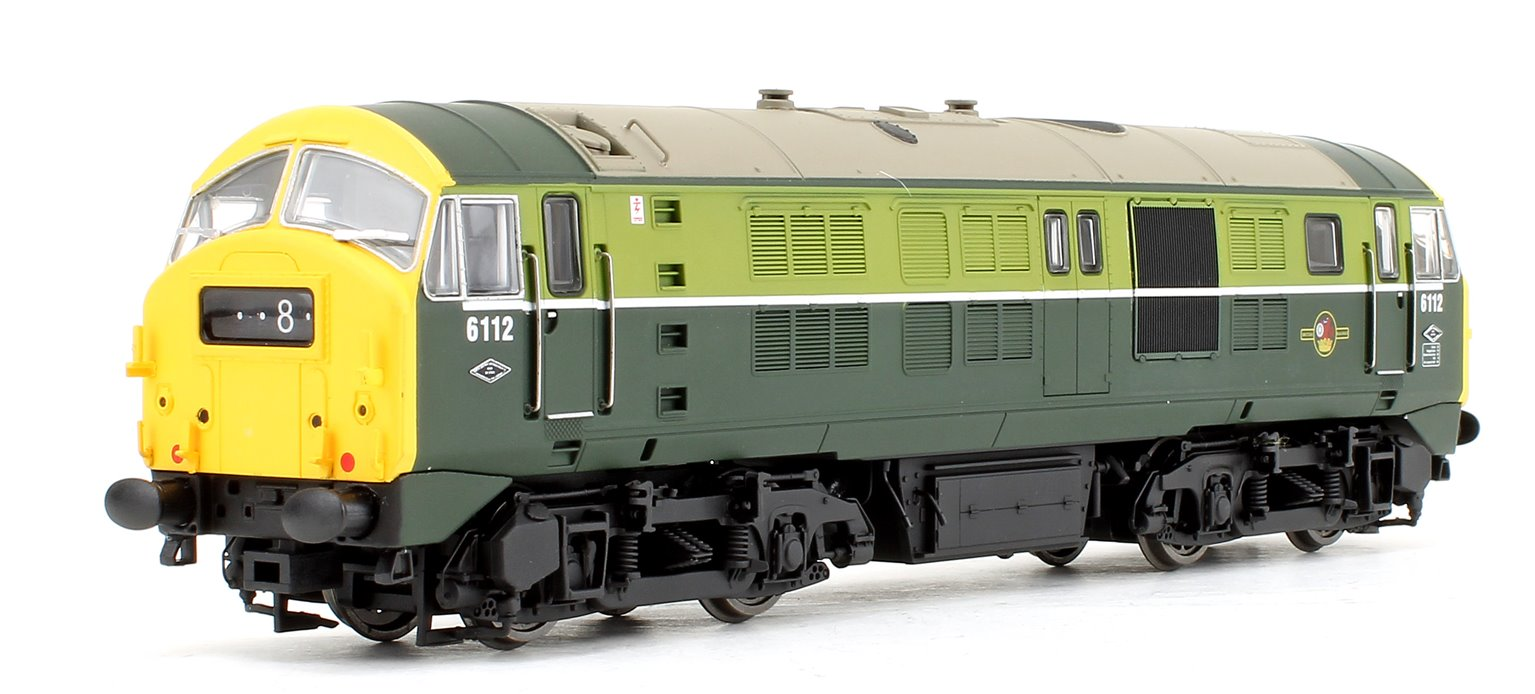 Class 29 6112 BR Two Tone Green (Full Yellow Ends) Diesel Locomotive DCC Sound