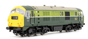 Class 29 6112 BR Two Tone Green (Full Yellow Ends) Diesel Locomotive DCC Fitted