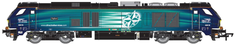 Class 68 Vigilant 68018 DRS Compass DCC Fitted