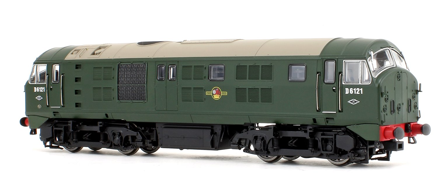 Class 21 D6121 BR GREEN (with Headcode Discs) Diesel Locomotive - DCC sound fitted