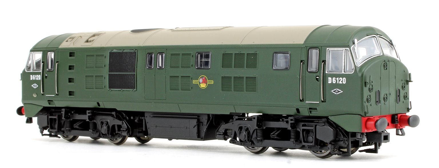 Class 21 D6120 BR green (with Headcode Discs) Diesel Locomotive - DCC fitted