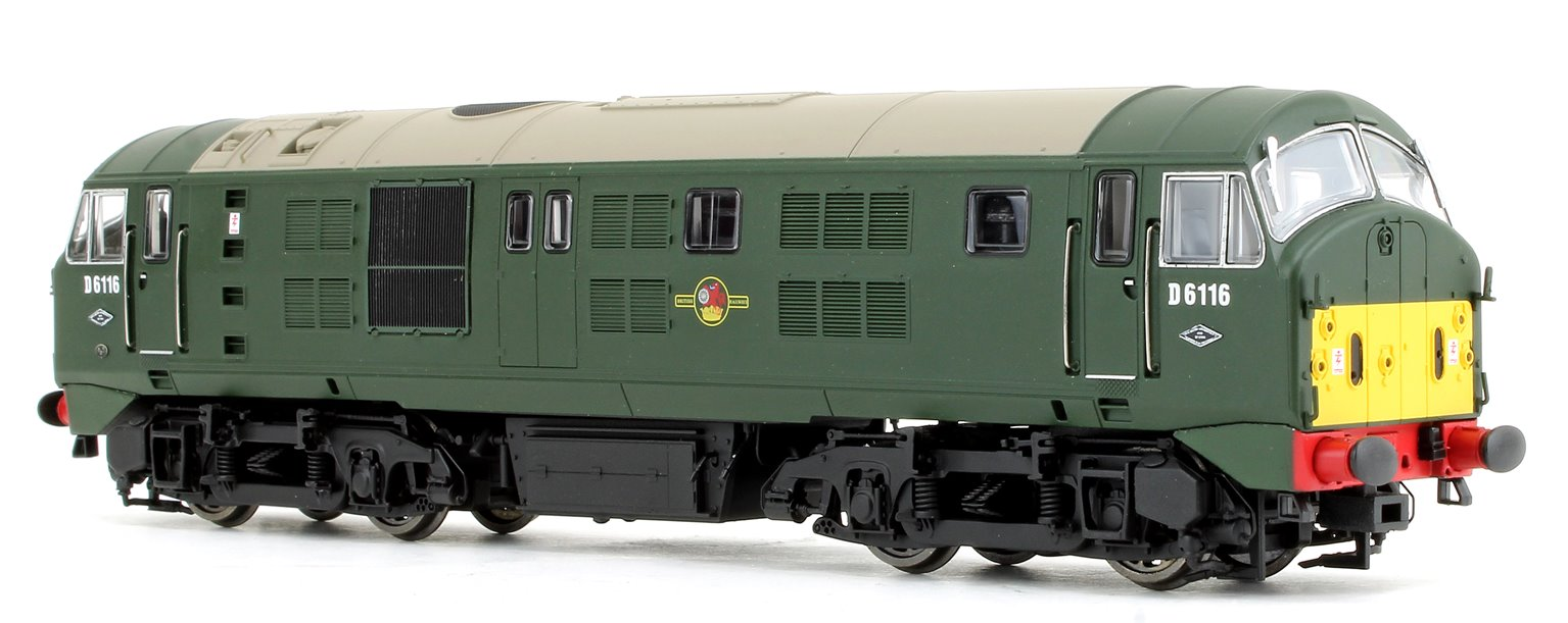 Class 21 D6116 BR Green with small yellow panels Diesel Locomotive - DCC sound fitted