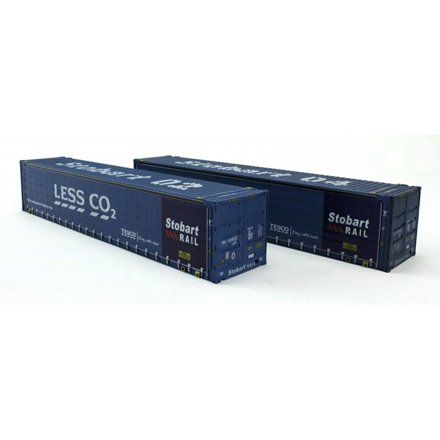 """Dapol 4F-028-006 Pack of two 45' containers """"Stobart - Less CO2"""" - weathered"""