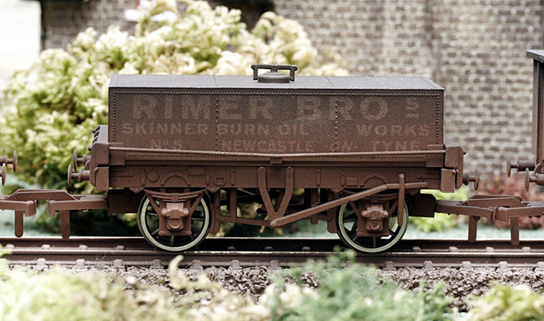 Rimer Bros Rectangular Tank Wagon - Weathered
