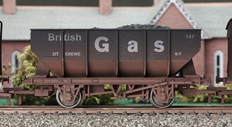 British Gas 21 Ton Hopper Wagon #147 - Weathered