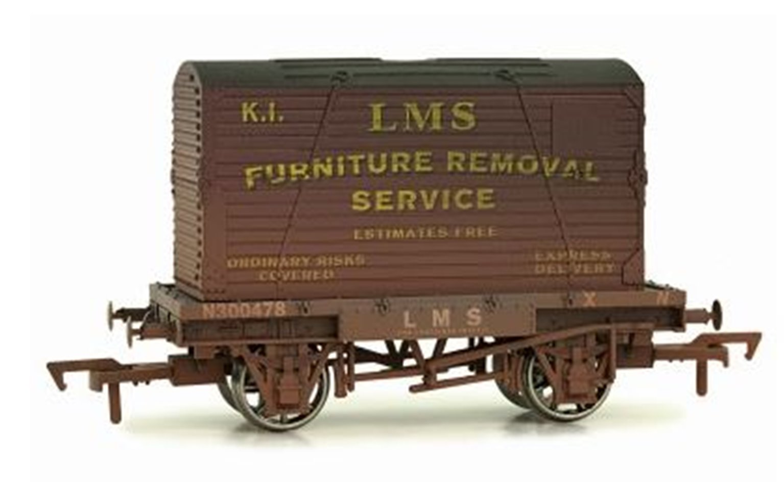 Dapol 4F-037-010 Conflat & Container LMS K1 - weathered