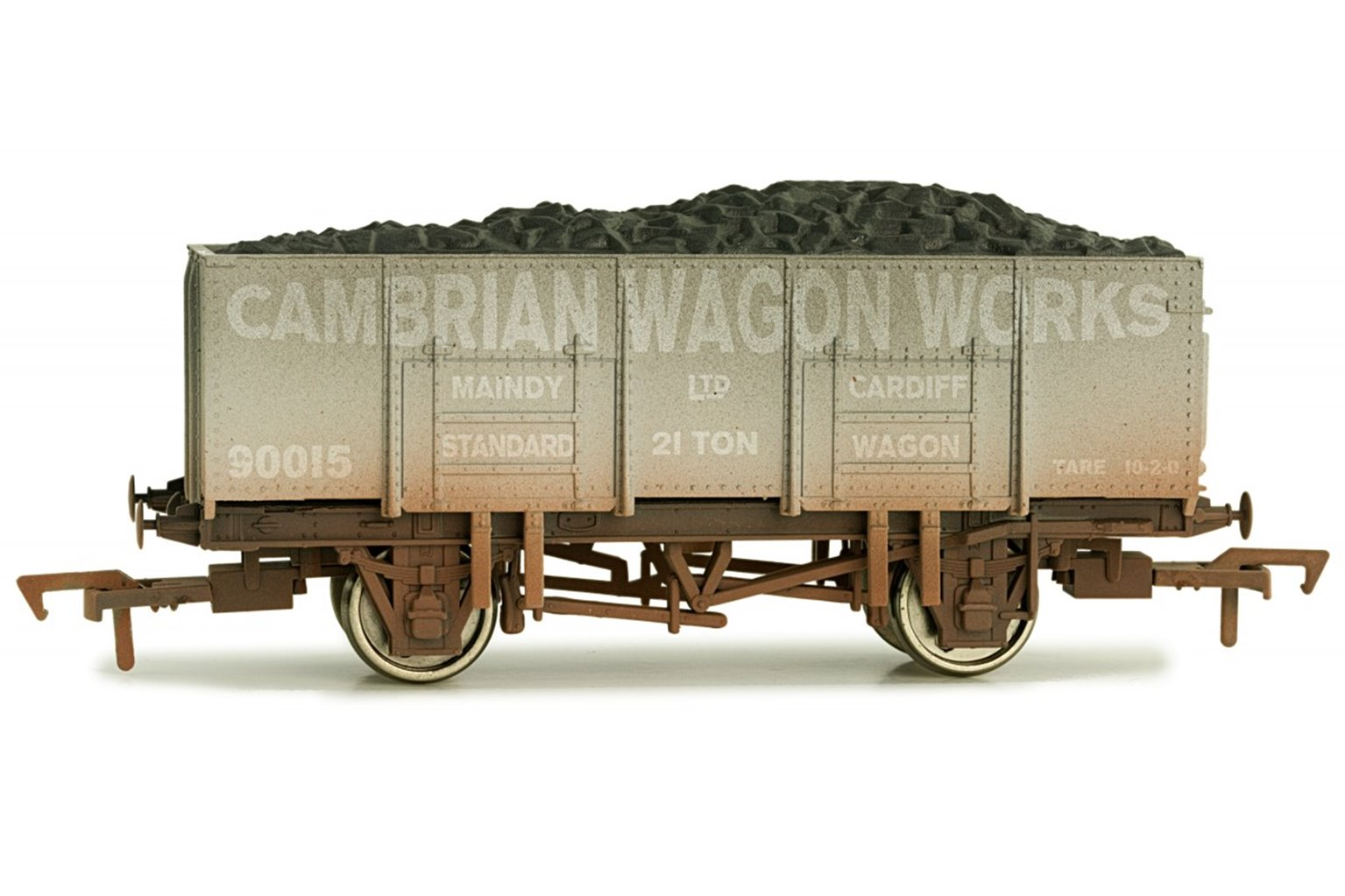 Dapol 4F-038-109 20t Steel Mineral Wagon Cambrian Wagon Works #90015 - Weathered