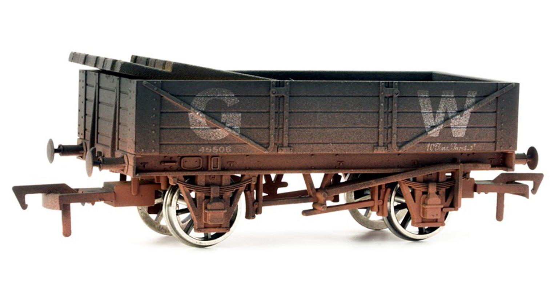 GWR 4 Plank Wagon #45506 - Weathered