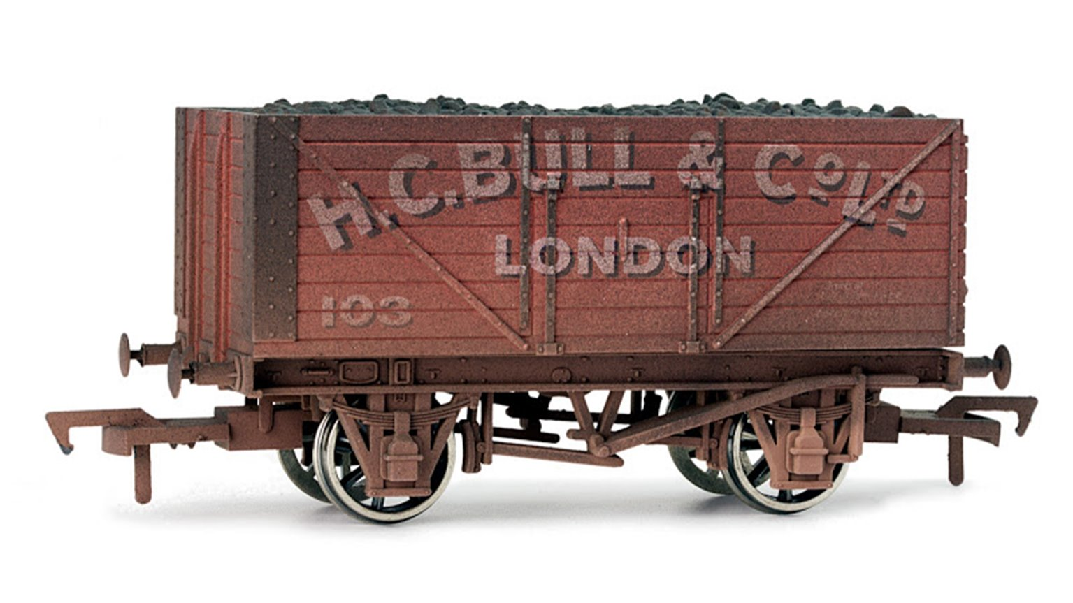Bull 8 Plank Wagon - Weathered